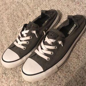 Gray slip on converse size 10 women's.